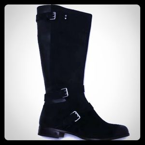 UGG Black Leather Suede Cydnee Boot Size 8.5